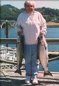 Spring Chinook caught on the Rogue River with Ron Smith, Sport Fishing Oregon guide
