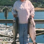 Mouth of the Rogue River fishing trip gets two big salmon